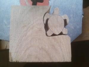 chantournage tortue bois sculpté