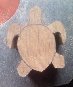 tortue bois sculpté chantourner