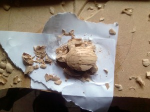 tortue bois sculpté copeau