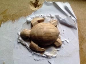 tortue bois mise en forme