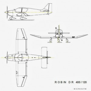 Plan avion Robin DR-400