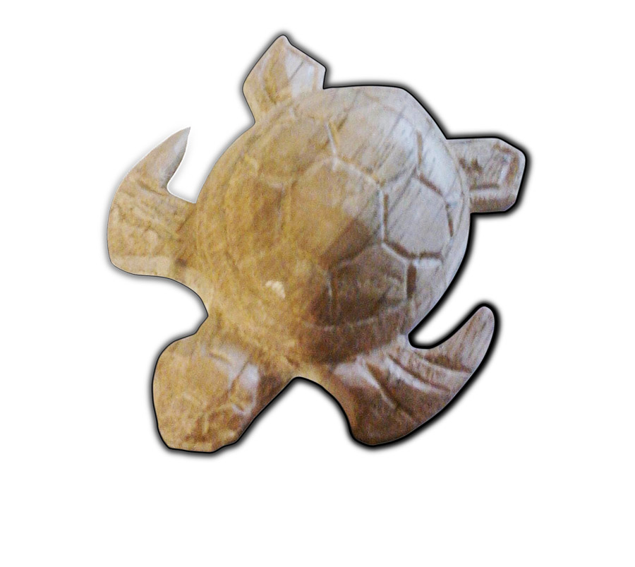 tortue bois sculpté