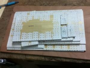 préparation des paquets de placage