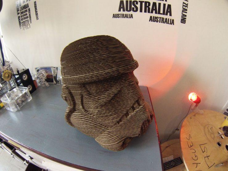 stormtrooper 123d make, laser cut carton