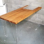 Table en bois et plexiglas design DIY