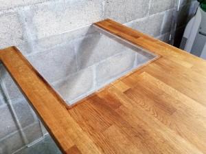 table bois plexi ouverture