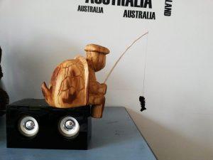 tortue en bois sculpter