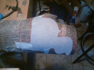 tracer d'une sculpture sur bois