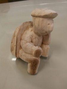 tortue sculpter poncer
