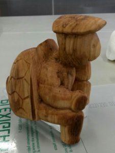 sculpture bois huile de tournesol