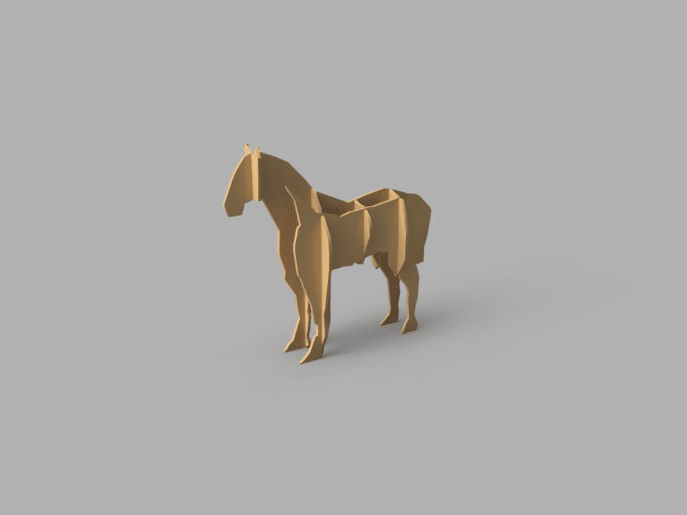 cheval - fichier pour d u00e9coupe laser